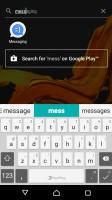 App search - Sony Xperia XZ Preview