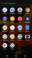 App drawer with search and sorting options - Sony Xperia XZ Preview