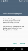 Fingerprint settings - Sony Xperia XZ review