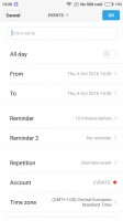 Calendar - Xiaomi Redmi 3S review