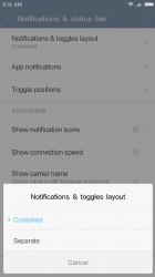 Notifications: Changing the view - Xiaomi Redmi Note 4 review
