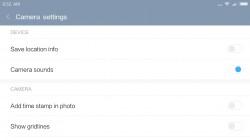MIUI camera interface: Settings - Xiaomi Redmi Note 4 review