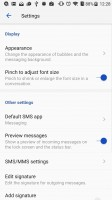 The Messaging app - ZTE Axon 7 review
