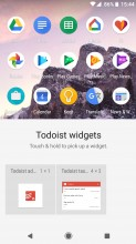 Widget selector for each app - Android 8.0 Oreo review