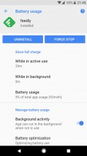 Manually turning background activity on/off - Android 8.0 Oreo review