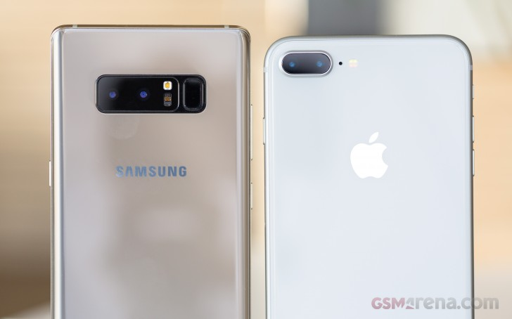 Apple iPhone 8 Plus vs. Samsung Galaxy Note8