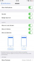 Notification settings - Apple iPhone 8 Plus review