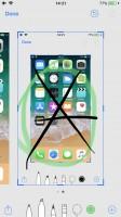 Editing a screenshot - Apple iPhone 8 review