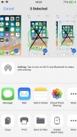 Sharing a screenshot - Apple iPhone 8 review