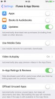 Offloading settings - Apple iPhone 8 review