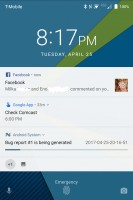 Lock screen - Blackberry Keyone review