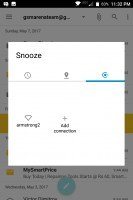 Snoozing a Hub item: by Wi-Fi network - Blackberry Keyone review