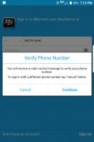 Use phone number to log in - Blackberry Keyone review