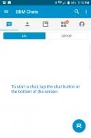Chats window - Blackberry Keyone review