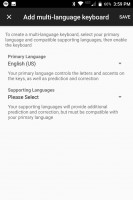 Selecting languages - Blackberry Keyone review