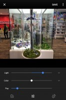 Editing an image on Google Photos - Blackberry Keyone review