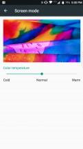 Color temperature slider - BlackBerry Motion review
