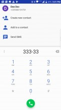 Dialer - BlackBerry Motion review