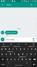 BlackBerry Keyboard's predictive suggestions - BlackBerry Motion review