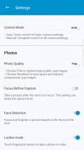 Camera settings - BlackBerry Motion review