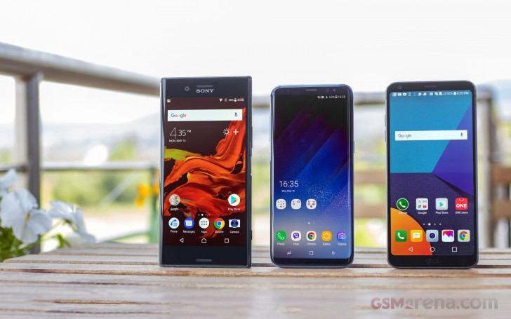 LG G6 vs. Galaxy S8 vs. Xperia XZ Premium review
