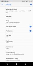 Display Settings - Google Pixel 2 Xl review