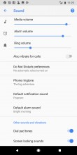 Sound settings - Google Pixel 2 Xl review