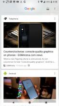Google Cards - Google Pixel 2 review