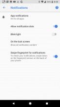 Notification options - Google Pixel 2 review