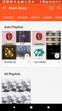Google Play Music: Library - Google Pixel 2 review