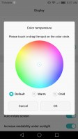 Color temperature tool - Huawei Honor 6x review