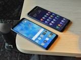 Huawei Mate 10 Pro next to the Galaxy S8+ - f/5.6, ISO 1250, 1/60s - Huawei Mate 10 hands-on review