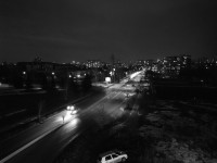 20MP monochrome night sample - Huawei Mate 9 Pro review
