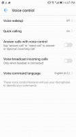 Voice control - Huawei Mate 9 Pro review