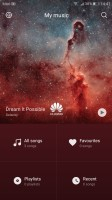 The music player - Huawei P10 Plus review