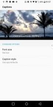 Subtitle settings - LG V30 review
