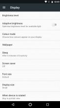 Display settings - Moto G5s Plus review