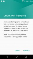 Fingerprint reader settings - Motorola Moto M review