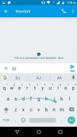 Swype input - Motorola Moto M review