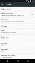 Display settings - Moto Z2 Play review