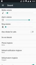 Sound settings - Motorola Moto X4 review