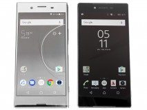 Sony Xperia XZ Premium next to the Xperia Z5 Premum - Sony Xperia XZ Premium hands-on