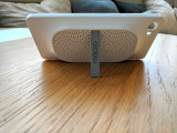 Speaker cover with kickstand extended - Alcatel at MWC 2017