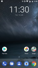 Home screen - Nokia 6 review