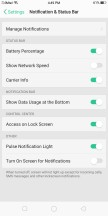Notification and status bar settings - Oppo F5 review