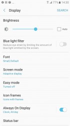 Display settings - Samsung Galaxy A3 (2017) review