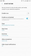 Do note disturb settings - Samsung Galaxy J7 (2017) review