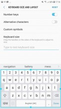 Keyboard settings - Samsung Galaxy J7 (2017) review