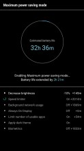 Battery saving modes - Samsung Galaxy J7 (2017) review