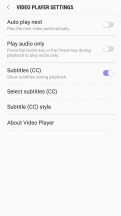 Video player: Settings - Samsung Galaxy J7 Pro review